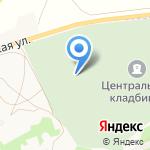 Центральное кладбище на карте Бийска