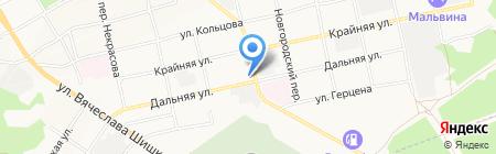 На Дальней на карте Бийска