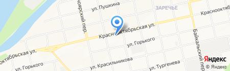 Рябинка на карте Бийска