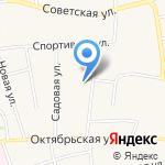 Первомайская средняя общеобразовательная школа на карте Бийска
