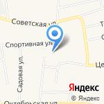 Первомайская библиотека на карте Бийска