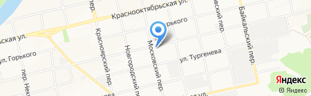 Колосок на карте Бийска