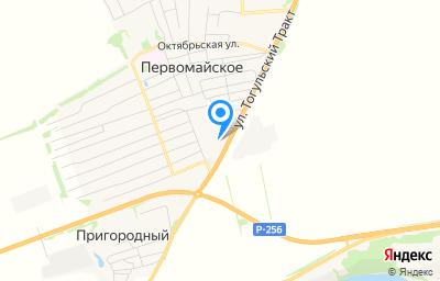 Местоположение на карте пункта техосмотра по адресу Алтайский край, Бийский р-н, с Первомайское, ул Тогульский Тракт, д 10