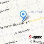 Магазин автозапчастей на карте Бийска