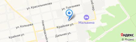 Крыша на карте Бийска