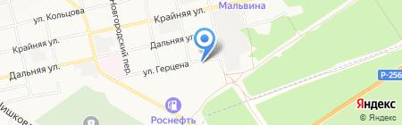 Группа кинологической службы межмуниципального управления МВД Бийское на карте Бийска