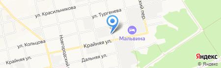 Магазин сантехники на карте Бийска