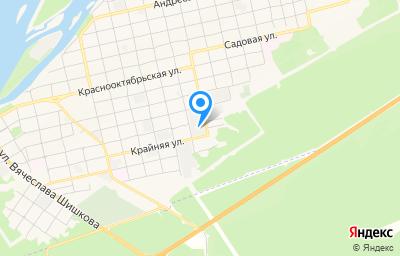 Местоположение на карте пункта техосмотра по адресу Алтайский край, г Бийск, пер Свердловский, д 71