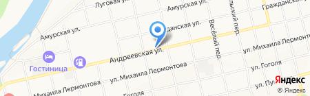 Андреевский на карте Бийска