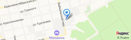 Пятачок на карте Бийска