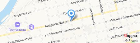 Автомойка на Андреевской на карте Бийска