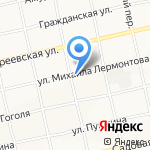 Продукты на Лермонтова на карте Бийска