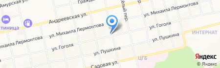 КАМЕНЬ АЛТАЯ на карте Бийска