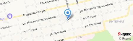 СТО на ул. Гоголя на карте Бийска