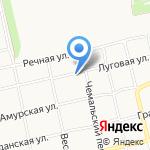 Компания грузоперевозок на карте Бийска