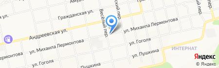 Веселый на карте Бийска