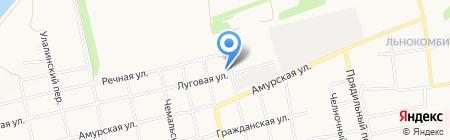 Афа на карте Бийска