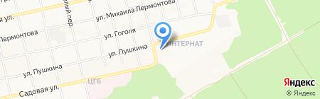 Средняя общеобразовательная школа №41 на карте Бийска