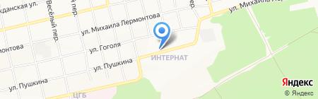 Амурский на карте Бийска