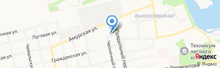 Покров на карте Бийска