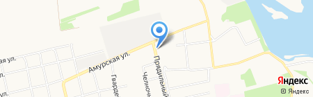 Шинный Центр на Октябре на карте Бийска