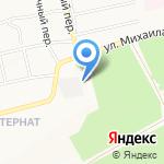 Гаражно-строительный кооператив №31 на карте Бийска