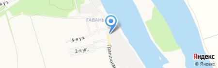 Продуктовый супермаркет на карте Бийска