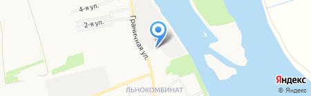 Рукав на карте Бийска