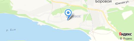 Радуга на карте Бийска
