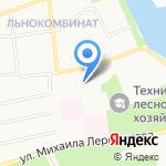Средняя общеобразовательная школа №9 им. С.Ю. Медведева на карте Бийска