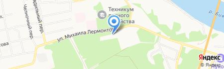Бийский лесхоз им. М.И. Трунова на карте Бийска
