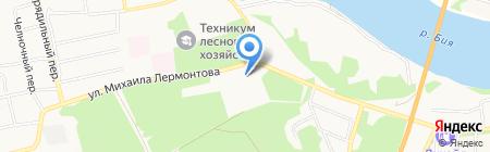 Парк отдыха на карте Бийска
