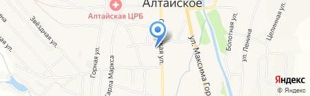 Магазин кондитерских изделий на карте Алтайского