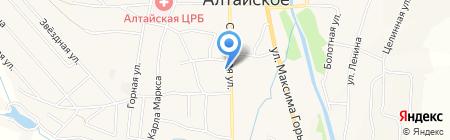 Комсомольский на карте Алтайского