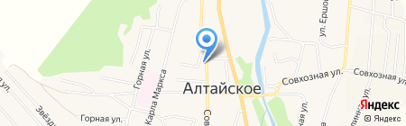 Ночлег на карте Алтайского