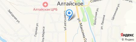 Меховик на карте Алтайского