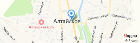 Селянин на карте Алтайского