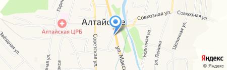 Шиномонтажная мастерская на карте Алтайского