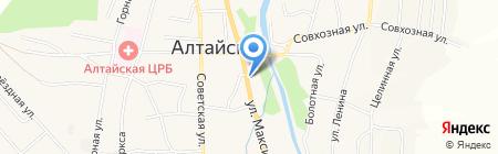 Кристалл на карте Алтайского