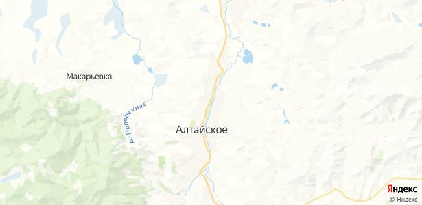 Алтайское на карте
