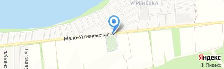 Малоугренёвское кладбище на карте Бийска