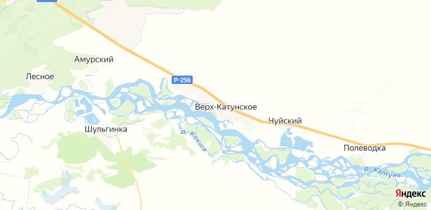 Верх-Катунское на карте