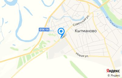 Местоположение на карте пункта техосмотра по адресу Алтайский край, с Кытманово, ул Советская, д 81
