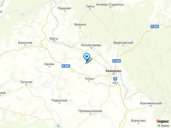 село Зарубино на карте