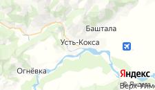 Гостиницы города Усть-Кокса на карте
