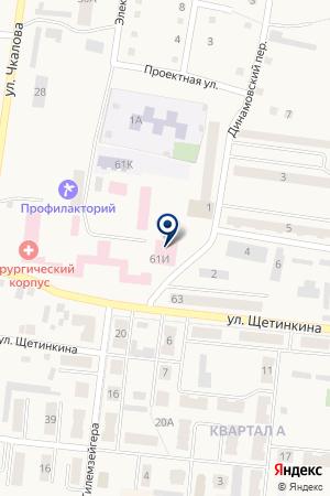 САНАТОРИЙ ЖЕЛЕЗНОДОРОЖНИК на карте Тайги