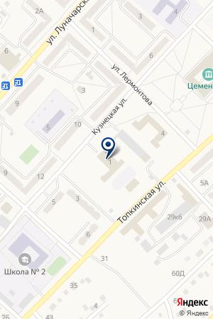 Дорожная академия на карте Топков