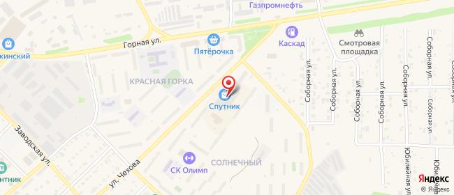 Карта расположения пункта доставки Westfalika в городе Топки