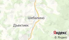 Отели города Шебалино на карте