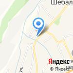 Отдел Военного комиссариата Республики Алтай по Шебалинскому району на карте Шебалино